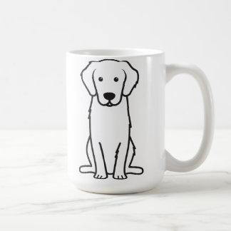 Dibujo animado del perro del golden retriever taza básica blanca