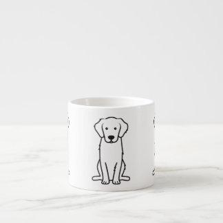 Dibujo animado del perro del golden retriever taza espresso