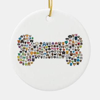 Dibujo animado del perro del HUESO Ornamentos De Reyes Magos