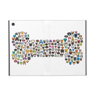 Dibujo animado del perro del HUESO iPad Mini Protectores