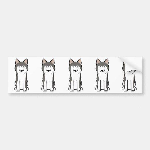 Dibujo animado del perro del husky siberiano pegatina para auto