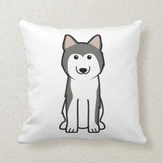 Dibujo animado del perro del husky siberiano cojin