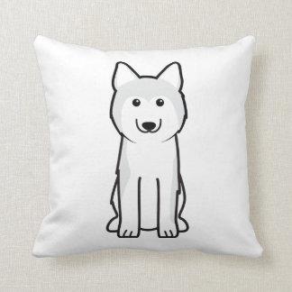 Dibujo animado del perro del husky siberiano almohada