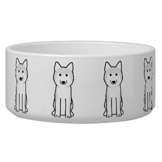Dibujo animado del perro del husky siberiano tazones para perro