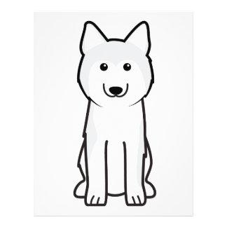 """Dibujo animado del perro del husky siberiano folleto 8.5"""" x 11"""""""
