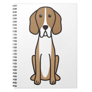 Dibujo animado del perro del indicador de Hertha Libro De Apuntes