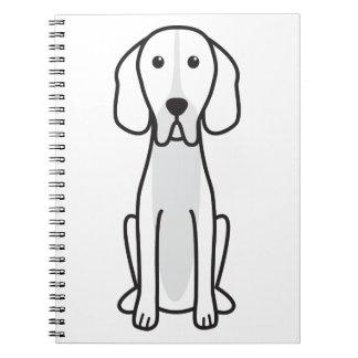 Dibujo animado del perro del indicador de Hertha Libros De Apuntes