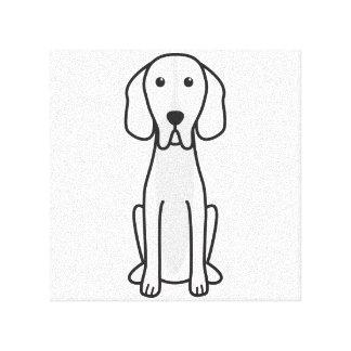 Dibujo animado del perro del indicador de Hertha Impresión En Lienzo Estirada