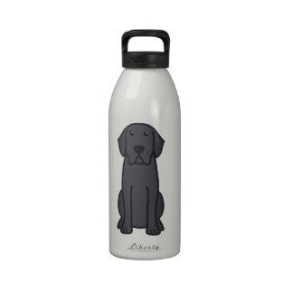 Dibujo animado del perro del labrador retriever botella de agua reutilizable