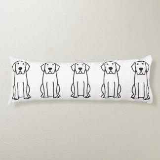 Dibujo animado del perro del labrador retriever almohada