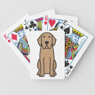 Dibujo animado del perro del labrador retriever cartas de juego
