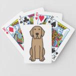 Dibujo animado del perro del labrador retriever barajas de cartas