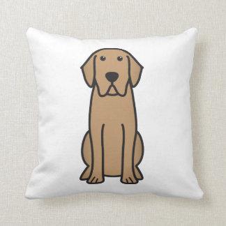 Dibujo animado del perro del labrador retriever cojín