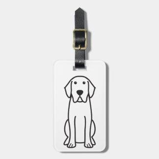 Dibujo animado del perro del labrador retriever etiqueta de equipaje