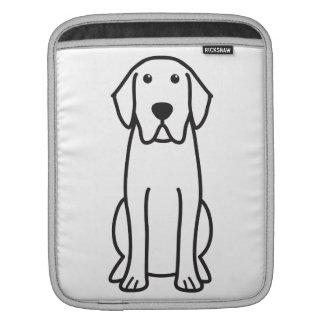 Dibujo animado del perro del labrador retriever mangas de iPad