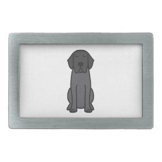 Dibujo animado del perro del labrador retriever hebilla cinturon rectangular