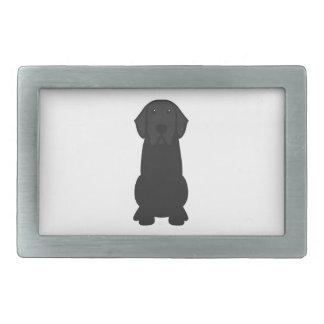 Dibujo animado del perro del labrador retriever hebillas de cinturón rectangulares