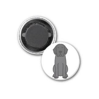 Dibujo animado del perro del labrador retriever imán para frigorifico