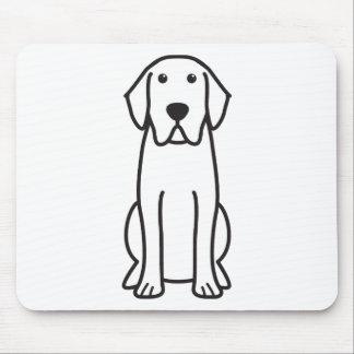 Dibujo animado del perro del labrador retriever mousepad