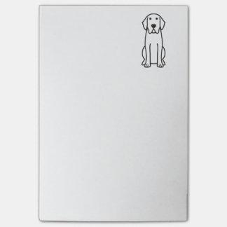 Dibujo animado del perro del labrador retriever notas post-it®