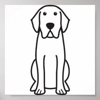 Dibujo animado del perro del labrador retriever posters