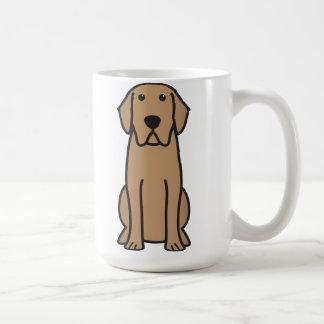 Dibujo animado del perro del labrador retriever taza