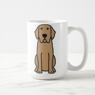 Dibujo animado del perro del labrador retriever taza básica blanca