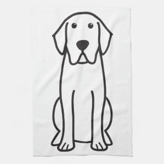 Dibujo animado del perro del labrador retriever toallas de mano