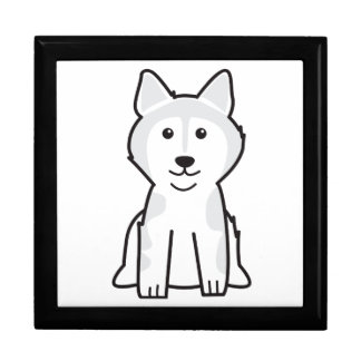 Dibujo animado del perro del Malamute de Alaska Caja De Regalo