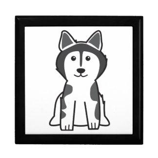 Dibujo animado del perro del Malamute de Alaska Caja De Recuerdo