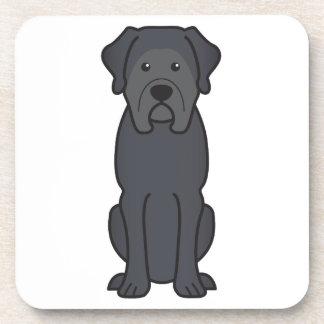 Dibujo animado del perro del mastín posavaso