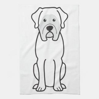 Dibujo animado del perro del mastín toalla