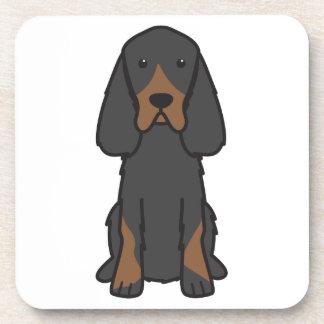 Dibujo animado del perro del organismo de Gordon Posavasos De Bebidas