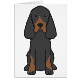 Dibujo animado del perro del organismo de Gordon Tarjeta
