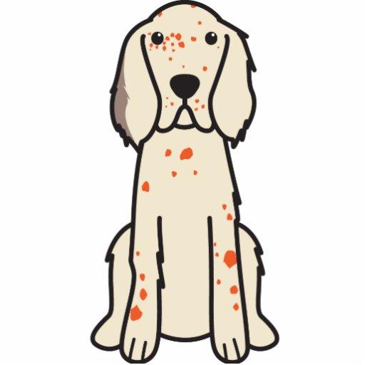 Dibujo animado del perro del organismo inglés fotoescultura vertical