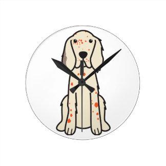 Dibujo animado del perro del organismo inglés reloj de pared