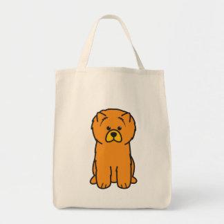Dibujo animado del perro del perro chino de perro  bolsa tela para la compra