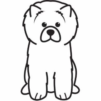 Dibujo animado del perro del perro chino de perro  esculturas fotograficas