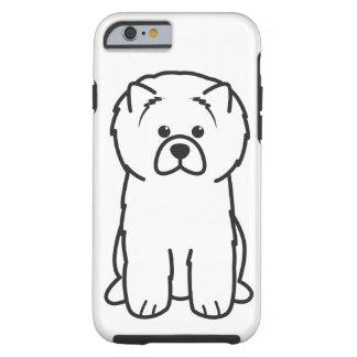 Dibujo animado del perro del perro chino de perro funda para iPhone 6 tough