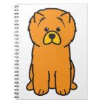 Dibujo animado del perro del perro chino de perro  libreta