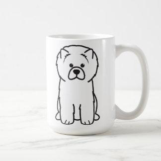 Dibujo animado del perro del perro chino de perro  taza