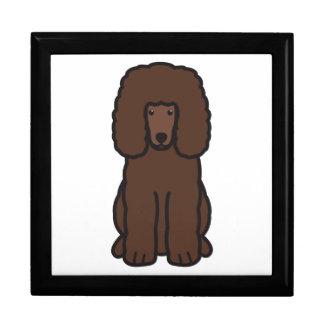 Dibujo animado del perro del perro de aguas de agu cajas de recuerdo