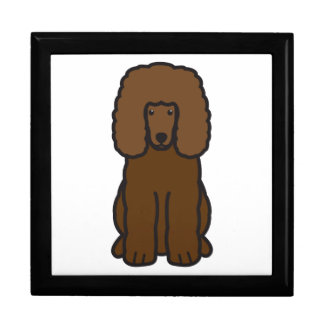 Dibujo animado del perro del perro de aguas de agu caja de regalo
