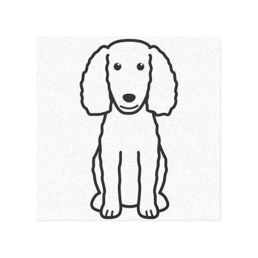 Dibujo animado del perro del perro de aguas de agu impresión en lona