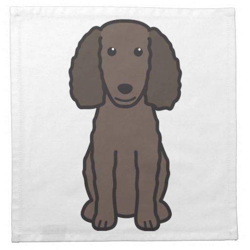 Dibujo animado del perro del perro de aguas de agu servilleta