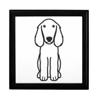 Dibujo animado del perro del perro de aguas de Boy Caja De Recuerdo