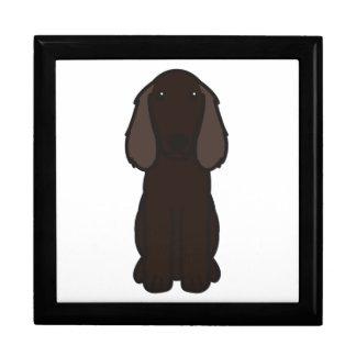 Dibujo animado del perro del perro de aguas de Boy Caja De Regalo