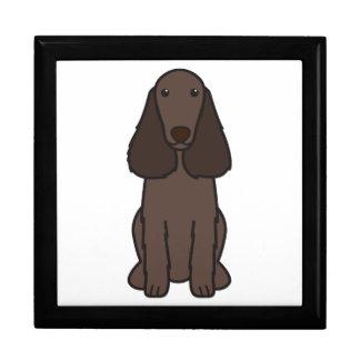 Dibujo animado del perro del perro de aguas de cam caja de recuerdo