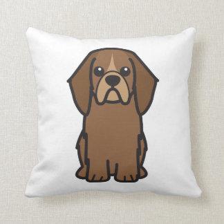 Dibujo animado del perro del perro de aguas de jug almohada