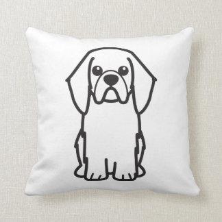 Dibujo animado del perro del perro de aguas de jug almohadas